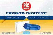 LANCETTE PUNGIDITO PIC DIGITEST GAUGE 28 25 PEZZI + 25 TAMPONCINI ASSORBENTI