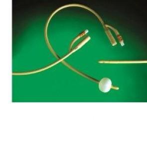 CATETERE URETRALE FOLEY IN LATTICE SILICONATO CH24 PER CATETERIZZAZIONE VESCICALE PRODOTTO IN LATTICE MEDICALE E TRATTATO IN SILICONE NELLA SUPERFICIE ESTERNA