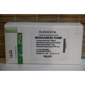 OLIGOCATAL MANGANESE RAME 20 FIALE GLUCOSATE