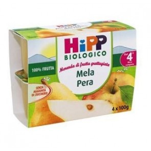 HIPP BIO HIPP BIO FRUTTA GRATTUGGIATA MELA PERA 4X100 G