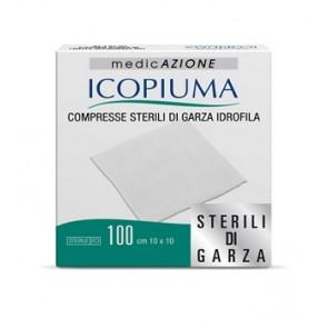 GARZA COMPRESSA IDROFILA ICOPIUMA 10X10CM 100 PEZZI