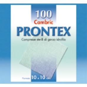 GARZA PRONTEX CAMBRIC 10X10CM 100 PEZZI