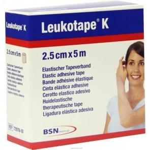 BENDA ADESIVA LEUKOTAPE K PER TAPING FISIOTERAPICO LARGHEZZA 2,5 CM LUNGHEZZA 5 M COLOR CARNE IN ROTOLO