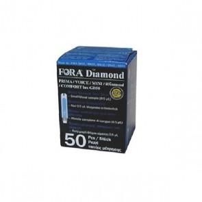 STRISCE MISURAZIONE GLICEMIA FORA DIAMOND PRIMA VOICE MINI GD50 50 PEZZI