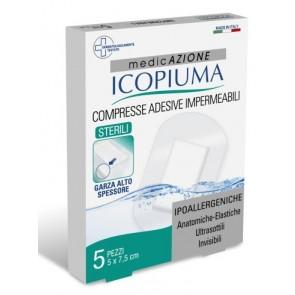 GARZA COMPRESSA ICOPIUMA MEDICATA POSTOPERATORIA 5X7,5 CM 5 PEZZI