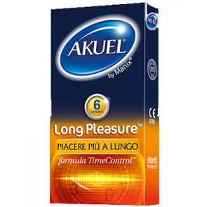 PROFILATTICO ANSELL AKUEL BY MANIX LONG PLEASURE 6 PEZZI