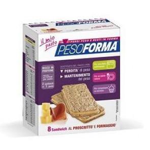 PESOFORMA SANDWICH PROSCIUTTO/FORMAGGIO 4 PASTI 8 PEZZI X 25 G