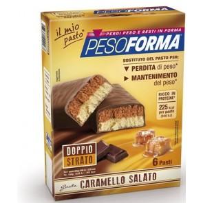 PESOFORMA BARRETTA AL CARAMELLO SALATO 12 PEZZI DA 31 G