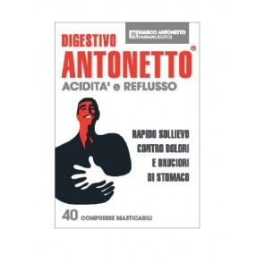 DIGESTIVO ANTONETTO ACIDITA' E REFLUSSO 40 COMPRESSE MASTICABILI