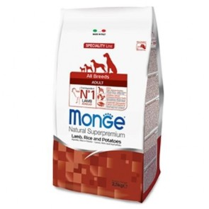 MONGE ALL BREEDS ADULT AGNELLO RISO & PATATE 2500 G
