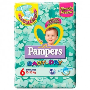 PAMPERS BABY DRY TRIO DWCT XL 45 PEZZI
