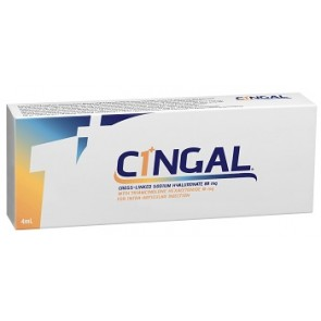 SIRINGA PRERIEMPITA INTRA ARTICOLARE CINGAL 4 ML 22MG/ML ACIDO RETICOLATO CON 4,5 MG/ML TRIAMCINOLONE ESACETONIDE