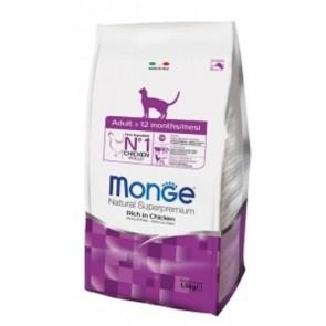 MONGE NATURAL SUPERPREMIUM SECCO GATTO ADULT CAT 1,5 KG