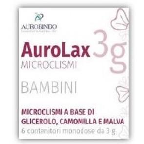 MICROCLISMI PER BAMBINI AUROLAX 6 CONTENITORI 3 G