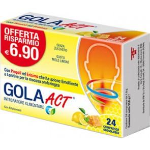 GOLA ACT MIELE LIMONE 24 COMPRESSE SOLUBILI 33,6 G
