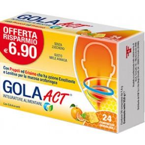 GOLA ACT MIELE ARANCIA 24 COMPRESSE SOLUBILI 33,6 G