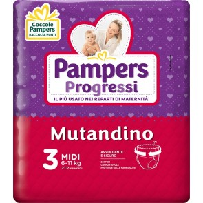 PAMPERS PROGRETGTGI MUTANDINO CP TG3 MIDI 21 PEZZI