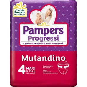 PAMPERS PROGRETGTGI MUTANDINO CP TG4 MAXI 19 PEZZI