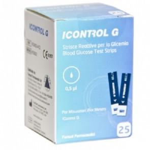 STRISCE MISURAZIONE GLICEMIA ICONTROL G 25 PEZZI