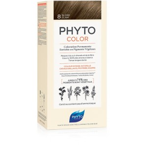 PHYTOCOLOR 8 BIONDO CHIARO 1 LATTE + 1 CREMA + 1 MASCHERA + 1 PAIO DI GUANTI
