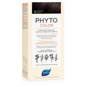 PHYTOCOLOR 5 CASTANO CHIARO 1 LATTE + 1 CREMA + 1 MASCHERA + 1 PAIO DI GUANTI
