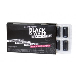 CURAPROX BLACK IS WHITE TO GO CHEWING GUM SLEEVE 12 PEZZI