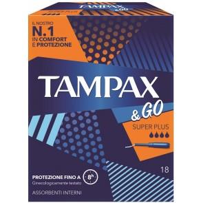TAMPAX &GO ASSORBENTE INTERNO SUPER PLUS 18 PEZZI