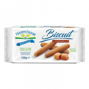 HAPPY FARM BISCUIT CARAMELLO 120 G