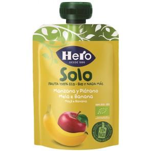 HERO SOLO FRUTTA FRULLATA 100% BIO MELA/BANANA 100 G